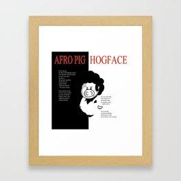 Hogface Framed Art Print