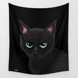 Angry cat Wall Tapestry