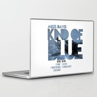 miles davis Laptop & iPad Skins featuring Kind Of Blue - Miles Davis / Album Cover Art LP Poster  by FunnyFaceArt