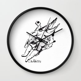 Crocostronaute Wall Clock