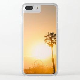 California Dreaming; Summer Beachside Sunset Clear iPhone Case