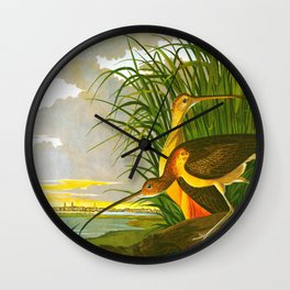 Long-billed Curlew Bird Wall Clock