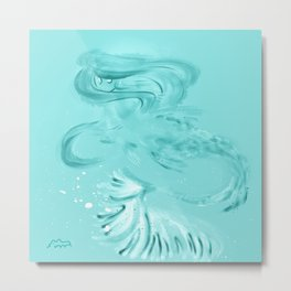 TRANSLUCENT MERMAID Metal Print