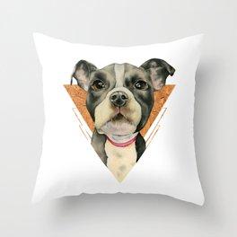 Puppy Eyes 5 Throw Pillow