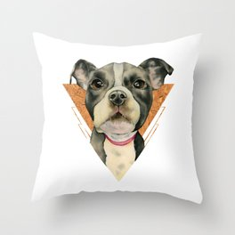 Puppy Eyes 5 Throw Pillow