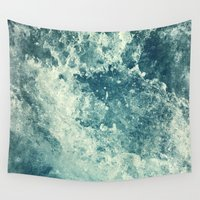 salt water Wall Tapestries featuring Water I by Dr. Lukas Brezak