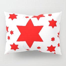 JULY 4TH  RED STARS DECORATIVE DESIGN Pillow Sham