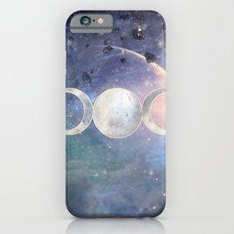 Heavenly Universe Triple Moon Goddess iPhone Case