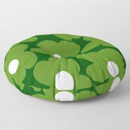 Spring Green Retro Flowers Dark Green Background #decor #society6 #buyart Floor Pillow