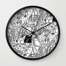 Funny Vegetables Wall Clock