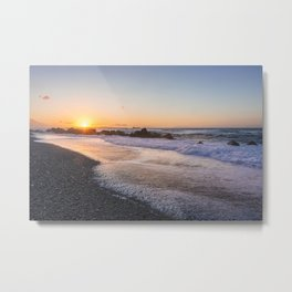 Salt air at sunset Metal Print