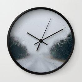 Rainy Road Wall Clock