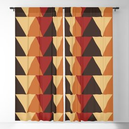 Bold tribal geometry warm earth tones Blackout Curtain