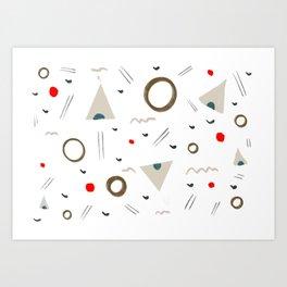 Simple Pattern Art Print
