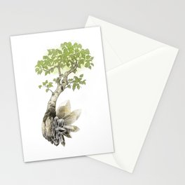 Birch Tree and Howlite Crystals Stationery Cards