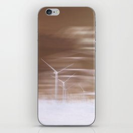 Ghostly wind turbines iPhone Skin