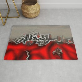Red Star Angeles Rug