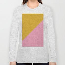 Ogre Yellow & Pink - oblique Long Sleeve T-shirt