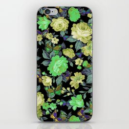 july roses & butterflies iPhone Skin