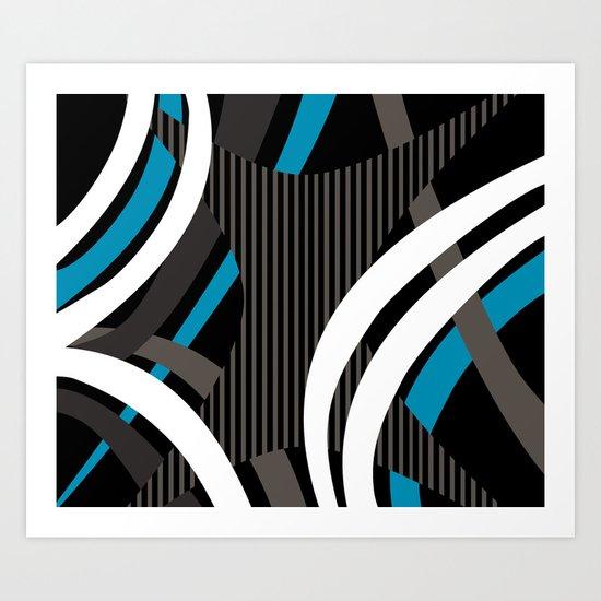 Wired Blue Art Print