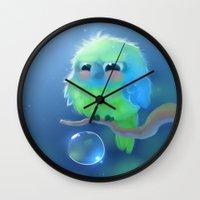 mini Wall Clocks featuring Mini Parrot by apofiss