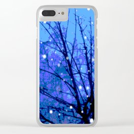 Starlit Tree Clear iPhone Case