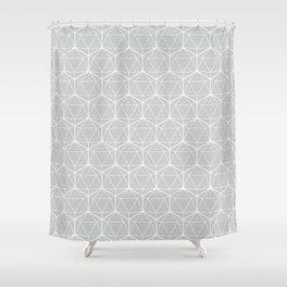 Icosahedron Soft Grey Shower Curtain
