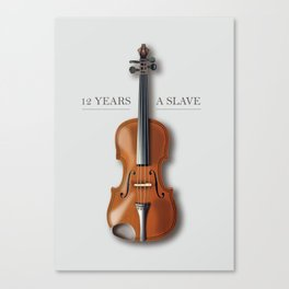 12 Years A Slave - Alternative Movie Poster Canvas Print