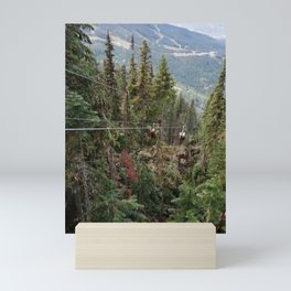 Flying through the mountains forest Mini Art Print
