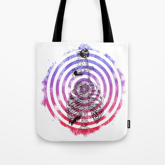 Skeleton Bullseye Tote Bag
