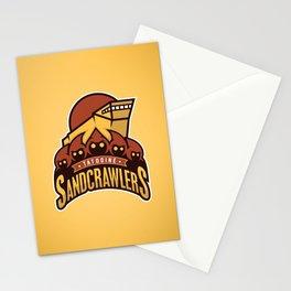 Tatooine SandCrawlers - Gold Stationery Cards