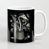 fierce Mugs featuring Fierce Bouquet by Jon MacNair