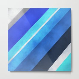 Parallel Blues Metal Print