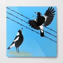 Magpies: learn to fly Metal Print