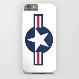 US Air-force plane roundel iPhone Case