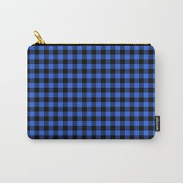 Classic Royal Blue Country Cottage Summer Buffalo Plaid Carry-All Pouch