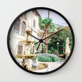 Italian Villa in Bellagio, Lake Como, Italy Wall Clock