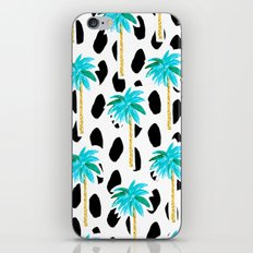 Palm Trees and Dots iPhone & iPod Skin