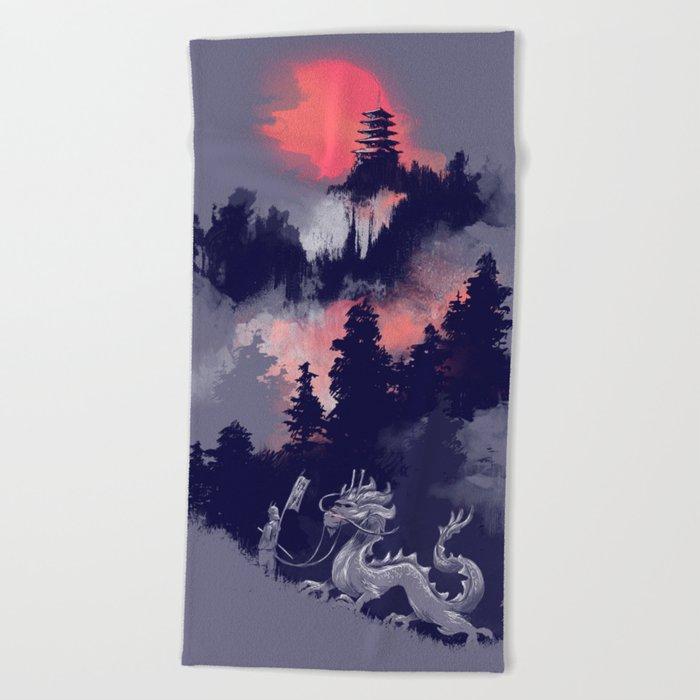 Samurai's life Beach Towel