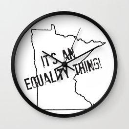 Minnesota Equality Wall Clock