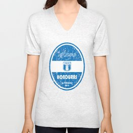 World Cup Football - Honduras (Distressed) Unisex V-Neck