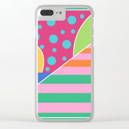 Sunbathing on the beach Clear iPhone Case