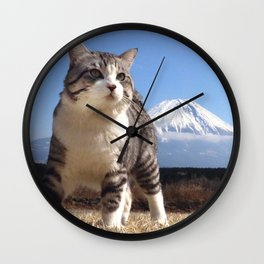 Rival of this cat is Mount Fuji. Wall Clock
