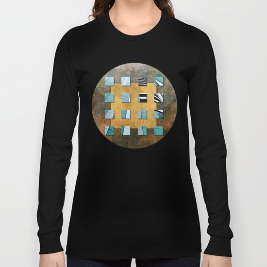 SQUARE AMBIENCE - Natural Lines Long Sleeve T-shirt
