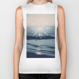 Twilight Mandala Ocean Bliss Dream #2 #sunset #decor #art #society6 Biker Tank