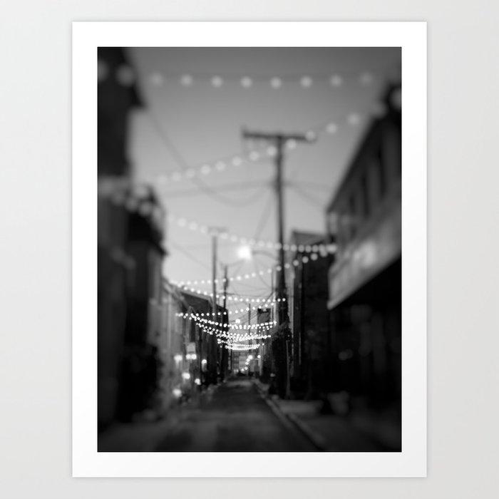 Party Lights in the City Kunstdrucke