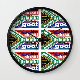South African slang and colloquialisms Wall Clock