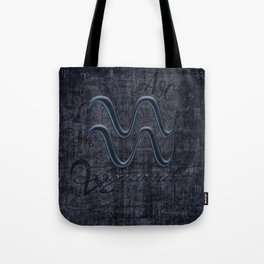 Aquarius In Grunge Look Tote Bag