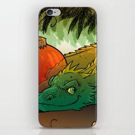 Baby Bestiary: Holiday Dragon Wyrm iPhone Skin