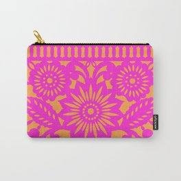 PAPEL PICADO - pink orange Carry-All Pouch